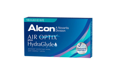 Alcon Air Optix Plus Hydraglyde (3 линзы)